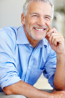 Gentleman with dentures from Jon C. Packman DDS